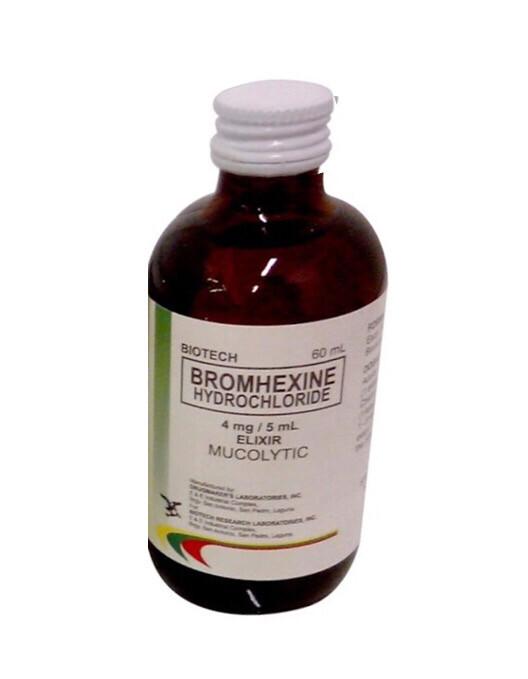 Bromhexine 4mg/5ml Syrup 60ml  x 1's