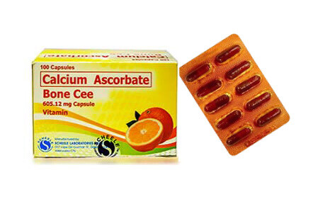 Calcium Ascorbate 500mg Capsule =605.19mg  x 1's