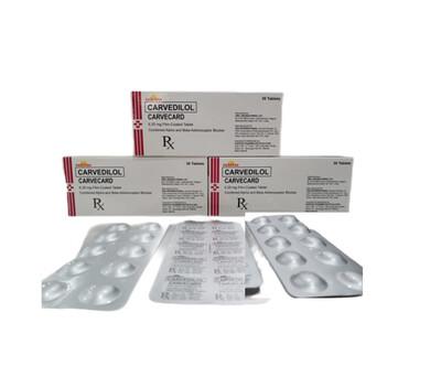 Carvedilol 6.25mg Tablet x 1's