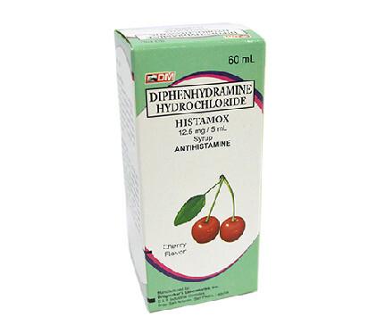 Diphenhydramine HCl 12.5mg/5ml Syrup 60ml x 1's
