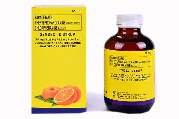 SYMDEX Paracetamol+Phenylpropanolamine+Chlorphenamine Syrup 60ml x 1's