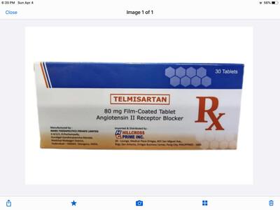Telmisartan 80mg Tablet Monthly Pack x 30's