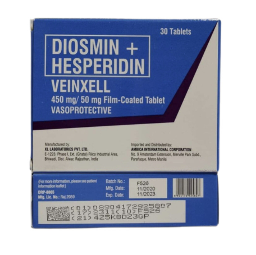 Diosmin+Hesperedin 450mg/50mg Tablet x 1's