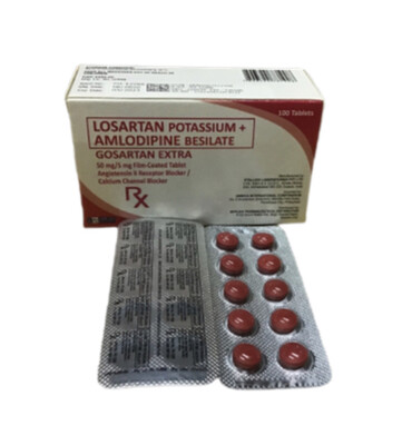Losartan+Amlodipine 50mg/5mg Tablet x 30's Monthly Dose Pack