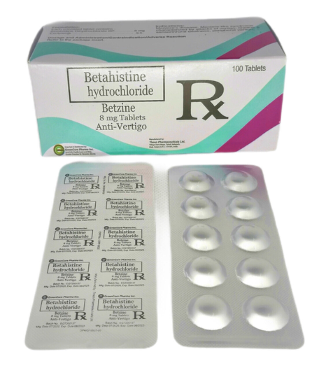 Betahistine 8mg Tablet x 1's