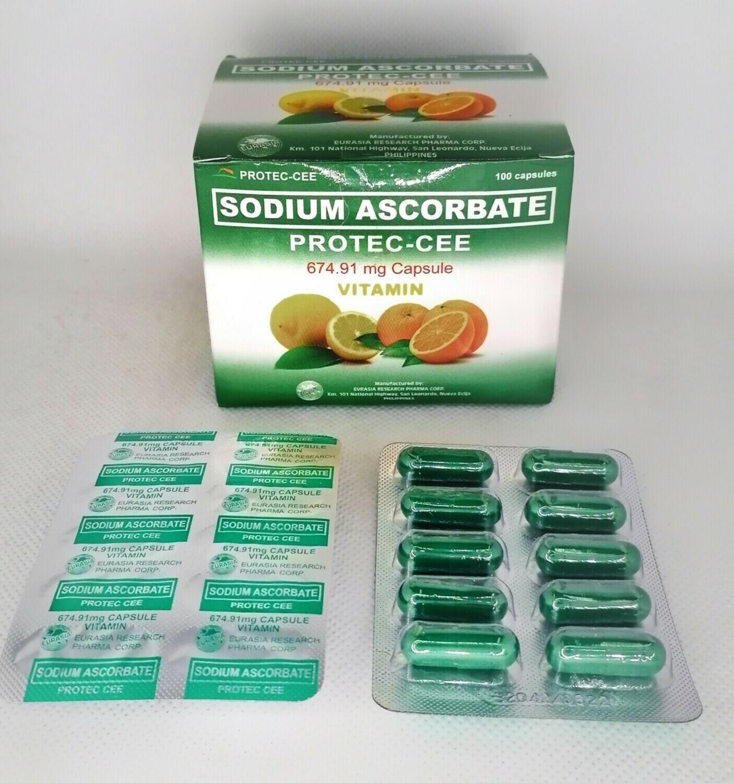 Poten-Cee SA (Sodium Ascorbate 568.18mg Vitamin C) Capsule 1's