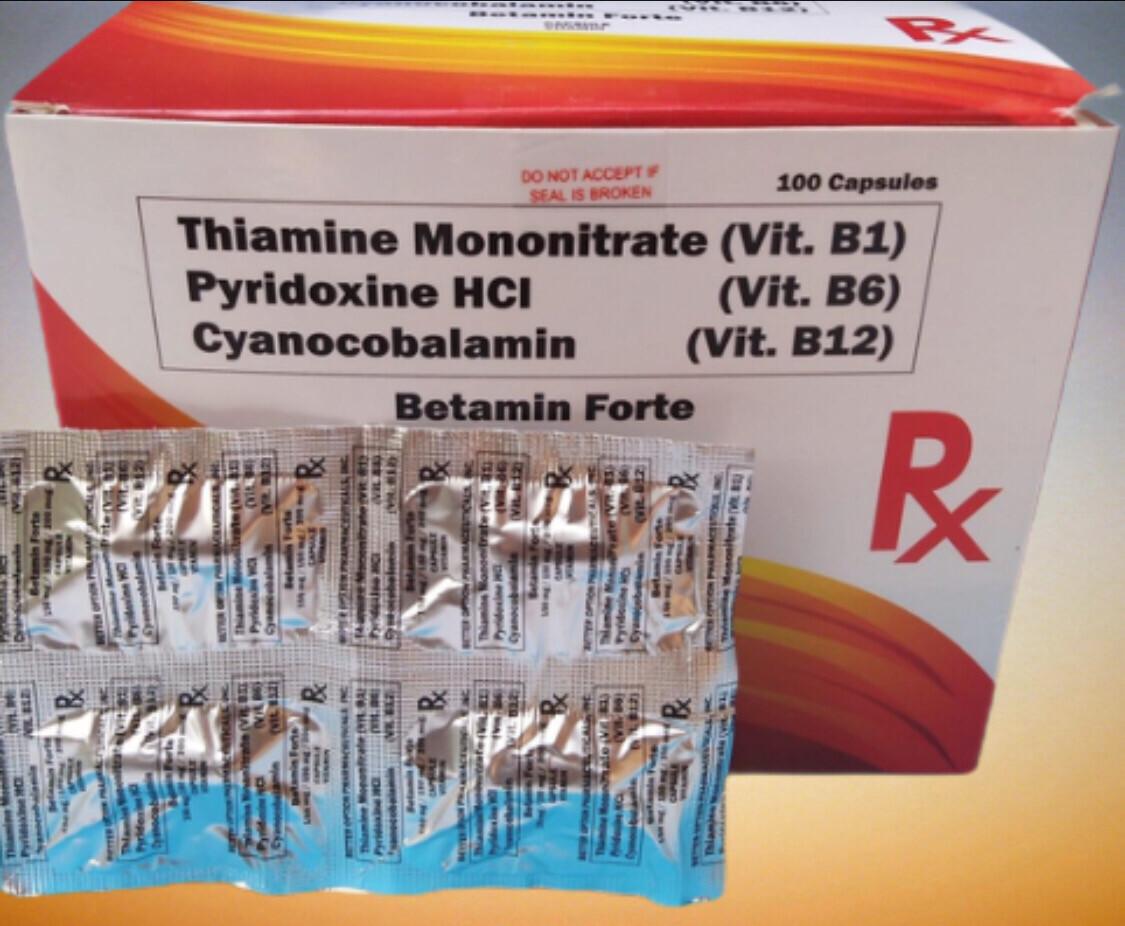 Vitamin B Complex B1+B6+B12 150mg/150mg/200mcg Capsule x 1's