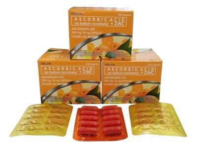 Sodium Ascorbate Vitamin C + Zinc Capsule x 1's