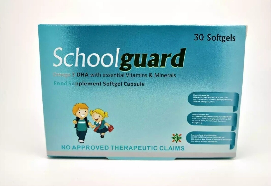 Omega 3 DHA with Essential Vitamins and Minerals For Kids (SCHOOLGUARD)
