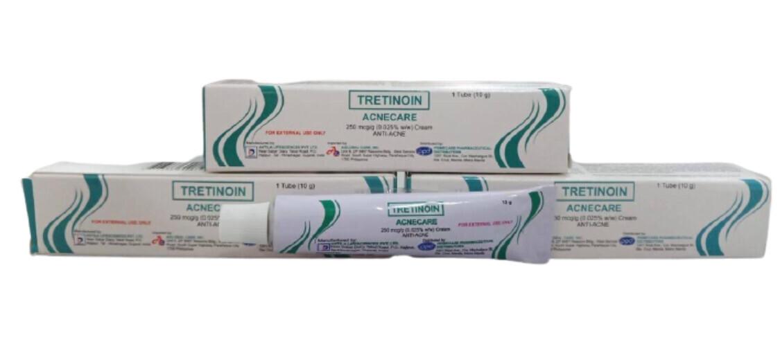Tretinoin 250mcg/g 0.25% Cream 10g x 1's