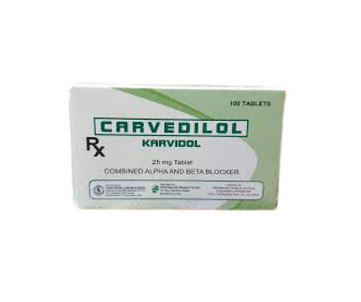 Carvedilol 25mg Tablet x 30s Monthly Pack