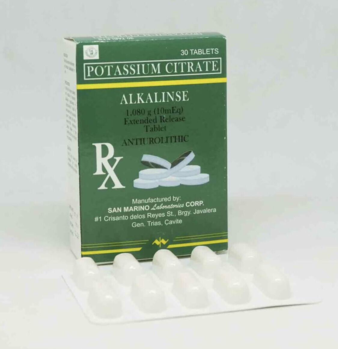 Potassium Citrate 1,080mg (10Meq)  [ALKALINSE] Tablet x 1's