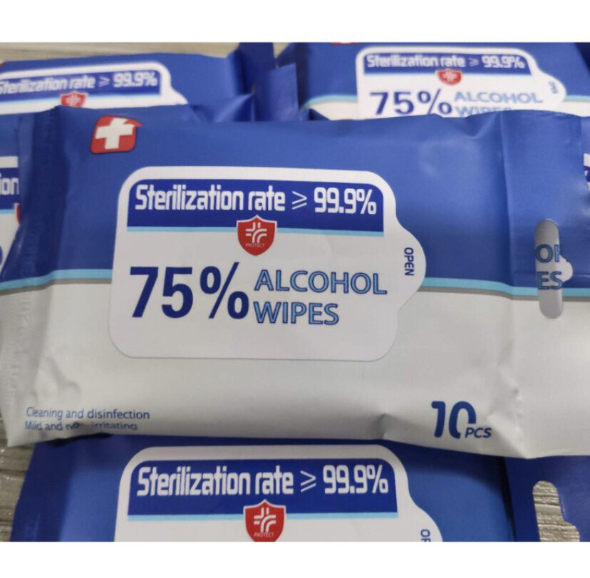75% Alcohol Wipes Disinfectant Sterilizer 10 Sheets Per Pack