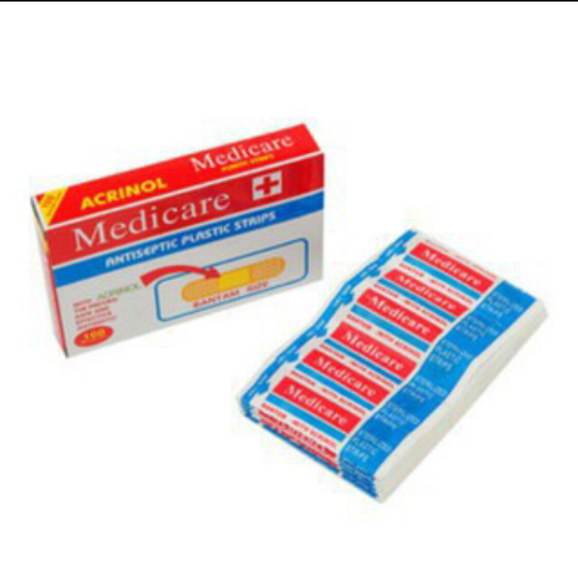 Medicare Antiseptic Plastic Band Aid Strips Box of 100's