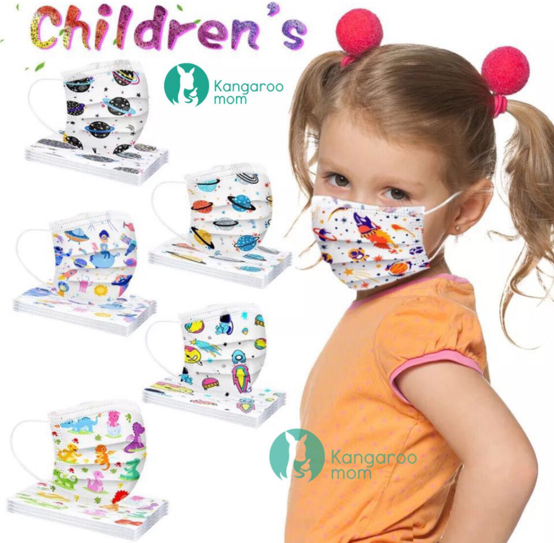 Kids/Child Disposable Face Mask x 50's