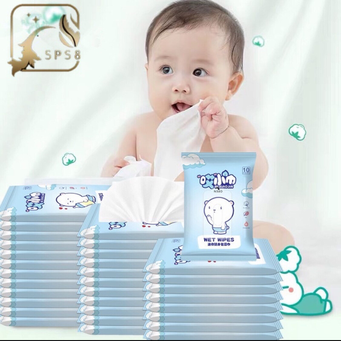 Baby Wet Wipes 10 Sheets Per Pack