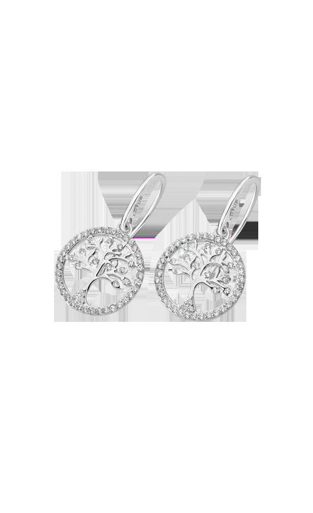 Boucles d'oreilles Lotus Silver LP1780/4/1