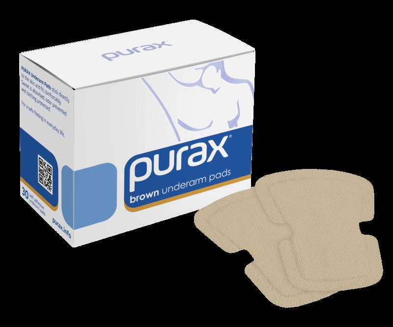 PURAX Underarm Pads - brown 30 pcs.