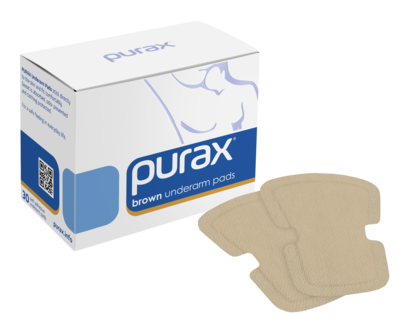 PURAX Underarm Pads - brown 30 pcs.