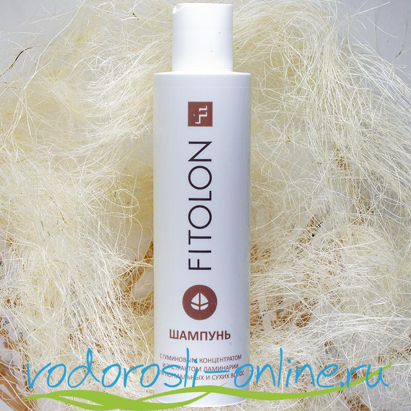 Шампунь с гуминовым концентратом и экстрактом ламинарии для нормальных и сухих волос, 200 мл.