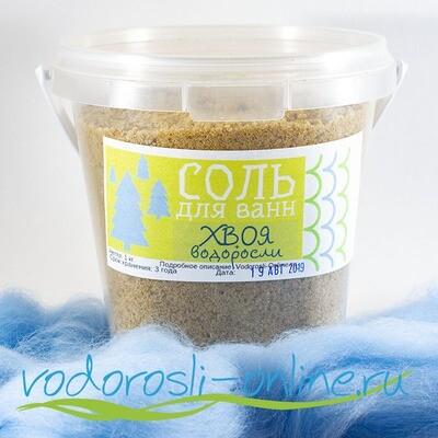 Соль для беломорских ванн с фукусом и хвоей, 1 кг.