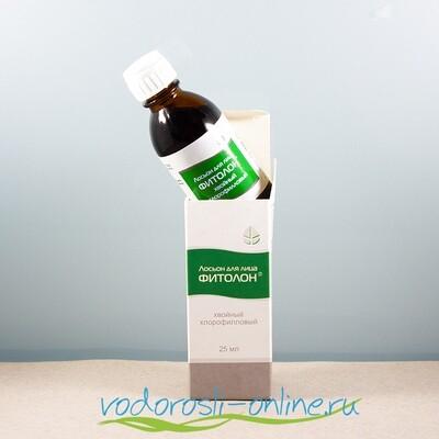 Лосьон для лица «Фитолон» хлорофилловый хвойный, 25 мл.