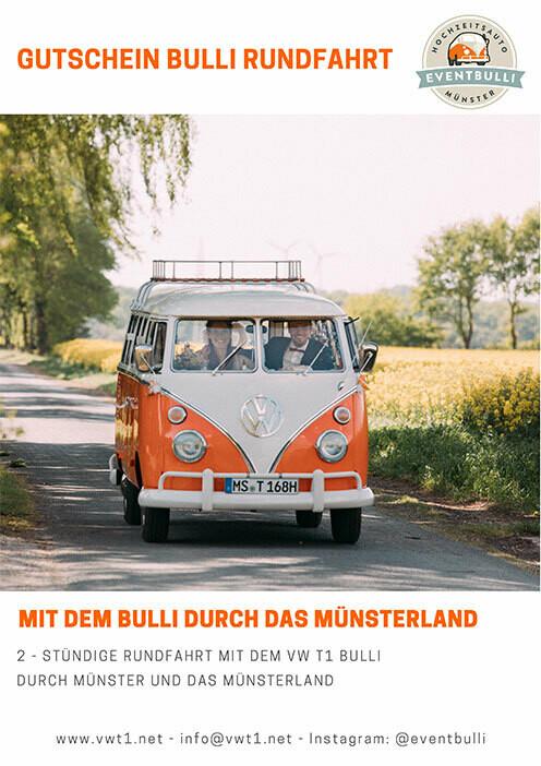 4 stündige Oldtimer Rundfahrt – Im VW T1 Bulli durch Münster und das Münsterland