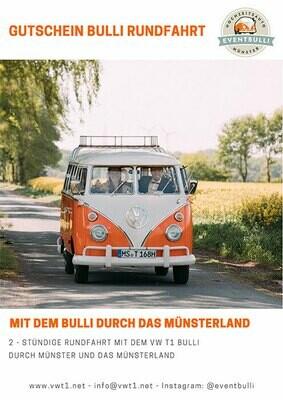 2 stündige Oldtimer Rundfahrt – Im VW T1 Bulli durch Münster und das Münsterland