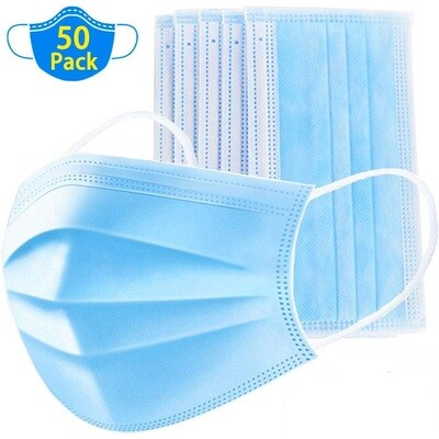 3_Ply_Disposable_Face_Mask A Pack of 50 Masks