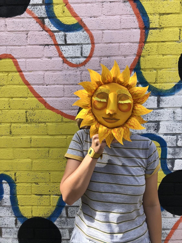 Sun Face Sculpture