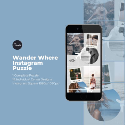 Wander Where Instagram Puzzle
