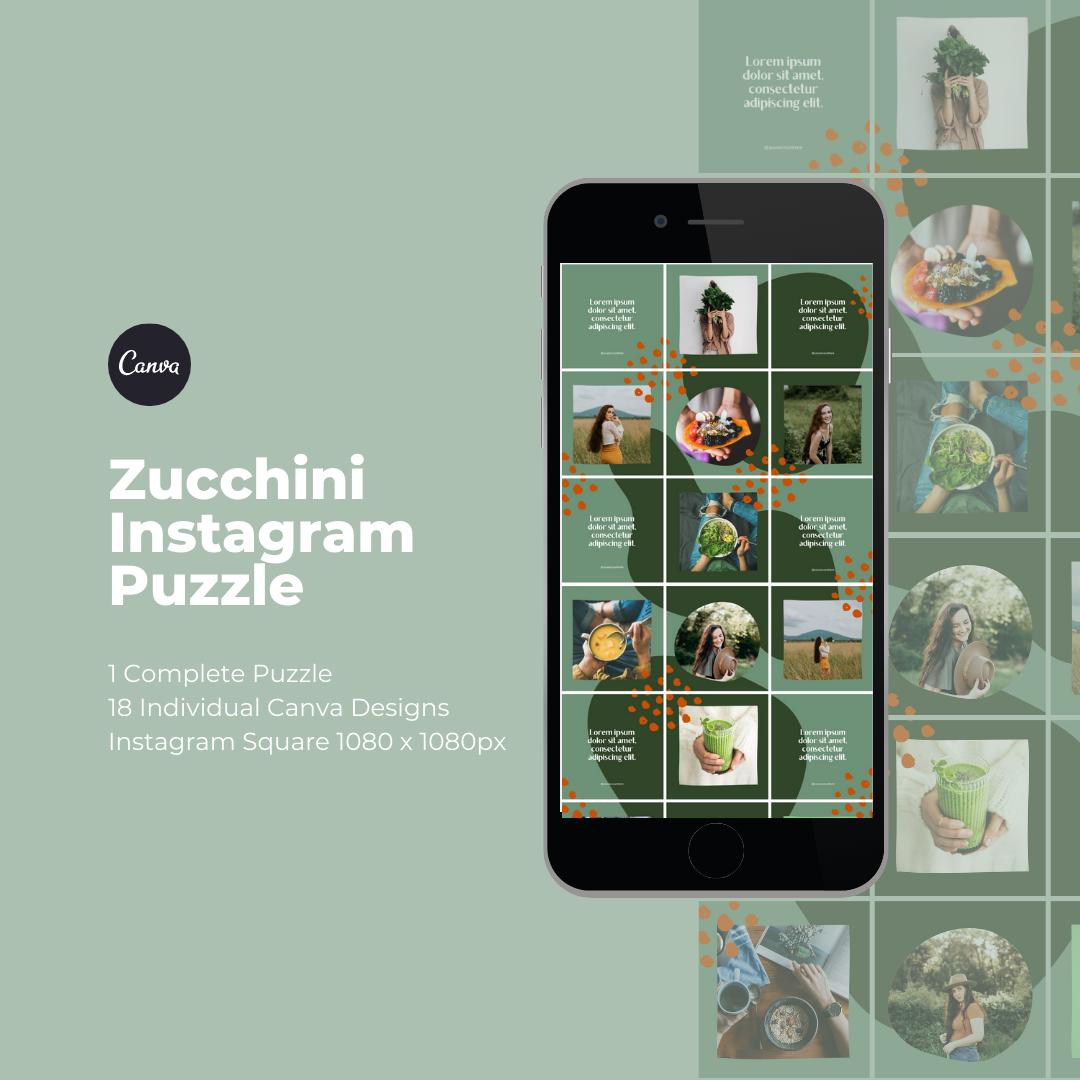 Zucchini Instagram Puzzle Template