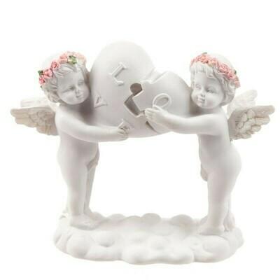 Statue chérubin cadenas love