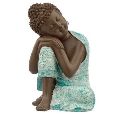 Statue bouddha marron & vert