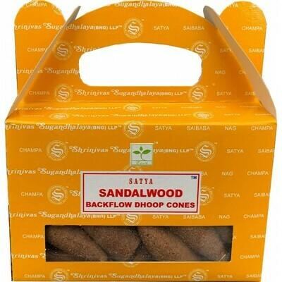 Cône d'encens à reflux santalwood Satya Nag Champa