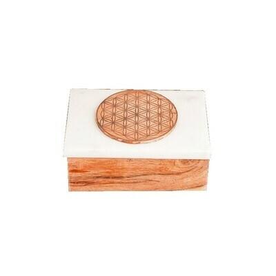 Boîte pour cartes Fleur de vie
