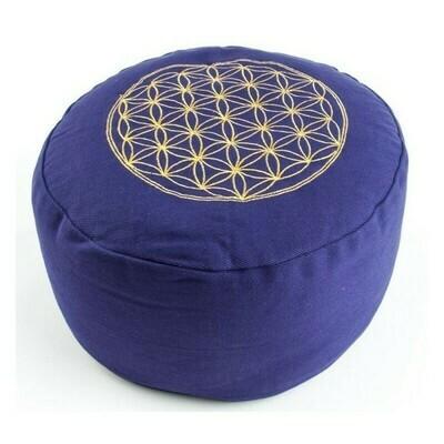 Coussin de méditation Fleur de vie violet