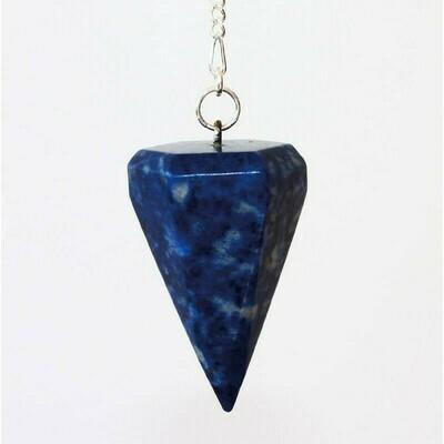 Pendule à facettes en lapis lazuli