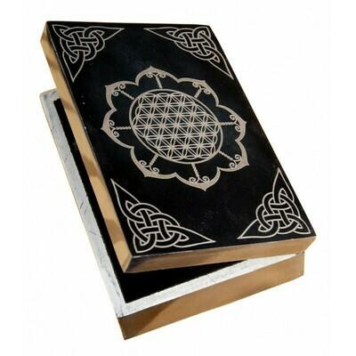 Boîtes pour cartes Fleur de vie et Lotus