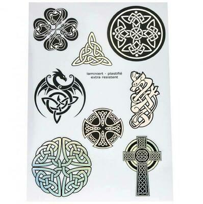 Autocollants symboles celtiques irisant A5