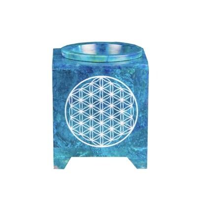 Lampe Aromatique Fleur de vie Bleu