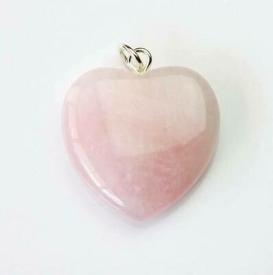 Pendentif cœur en Quartz Rose