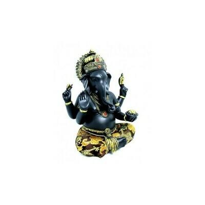Statue Ganesh noir et or
