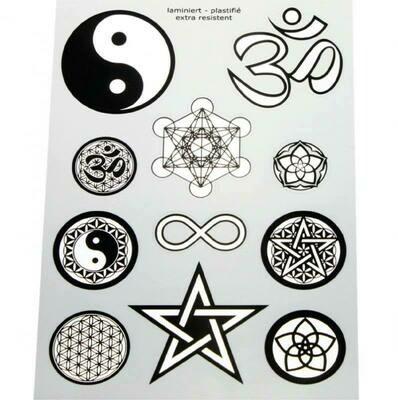 Autocollants symboles noir / argent