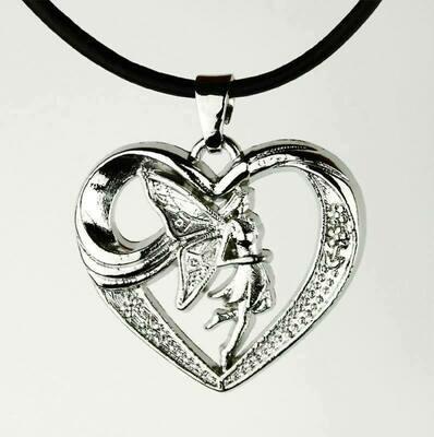 Pendentif elfe dans cœur