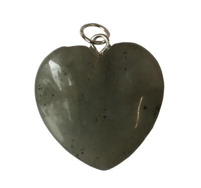 Pendentif cœur en Labradorite