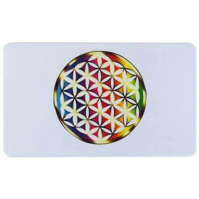 Planchette fleur de vie multicolore