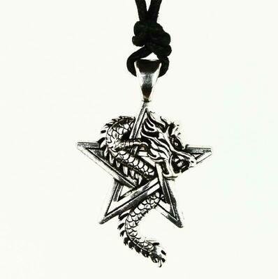 Pendentif dragon pentagramme