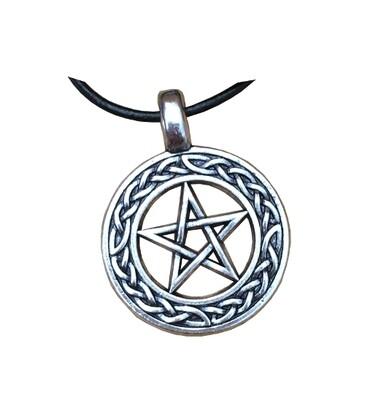 Pendentif pentagramme anneau celtique