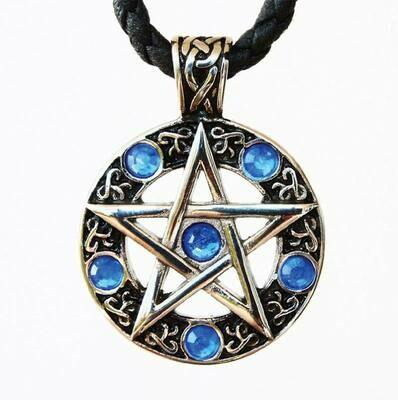 Pendentif pentagramme cercle celtique